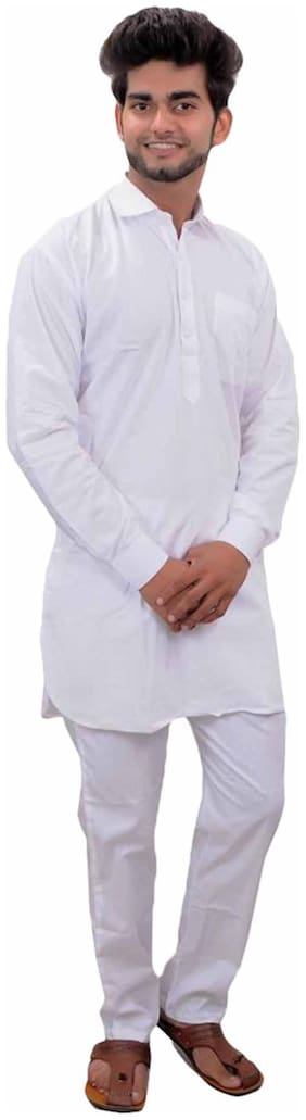 Royal Kurta White Cotton Kurta Pyjama