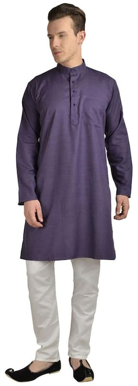 Royal Kurta Purple Cotton Kurta Pyjamas