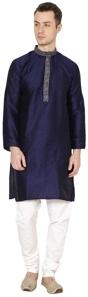 Royal Kurta Men's Jacquard Silk Embroidered Kurta Pyjama