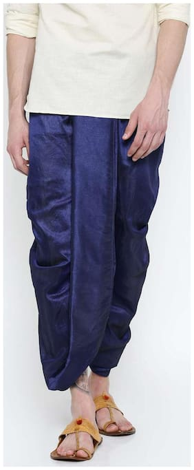 Royal Kurta Blended Solid Regular dhoti Dhoti - Blue