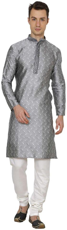 Royal Kurta Men's Jacquard Silk Embroidered Kurta Pyjama