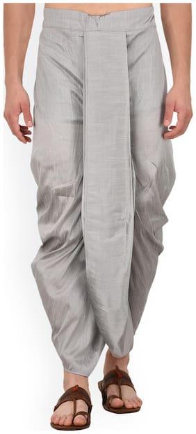 Royal Kurta Blended Striped Regular dhoti Dhoti - Grey