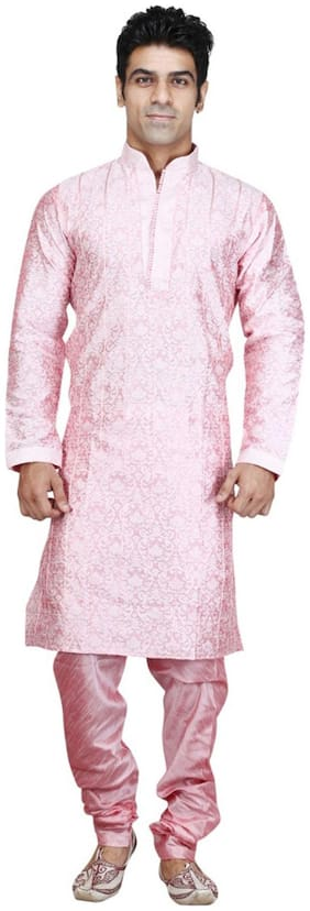 Royal Kurta Silk Medium Sherwani - White