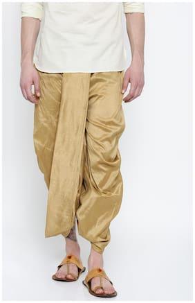 Royal Kurta Blended Solid Regular dhoti Dhoti - Yellow