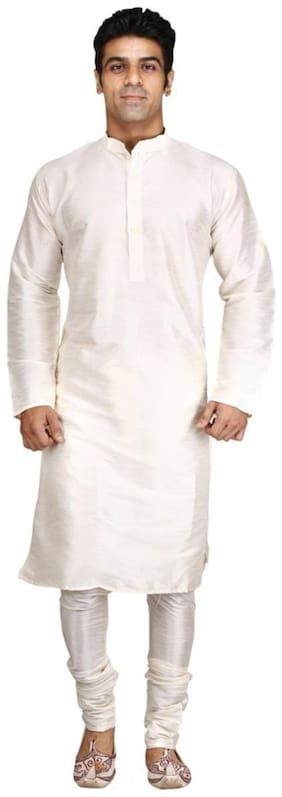 Royal Kurta Beige Silk Blend Kurta Pyjama