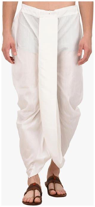 Royal Kurta Blended Solid Regular dhoti Dhoti - White