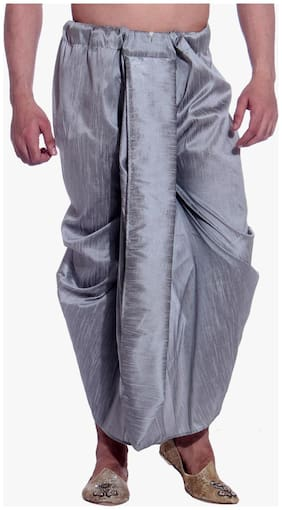 Royal Men's Art Silk Fine Quality Ready To Wear Free Size Dhoti Pant's