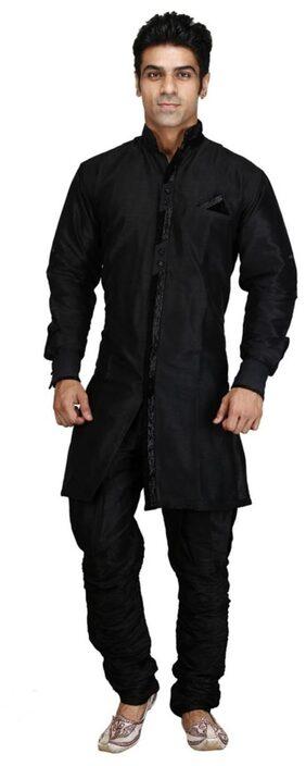 Royal Men's Designer Indo Western Sherwani_black