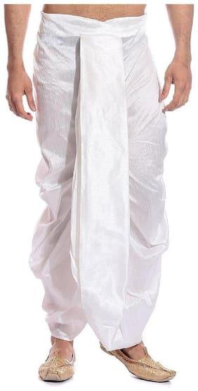 Royal Kurta Dupion Solid Regular dhoti Dhoti - White