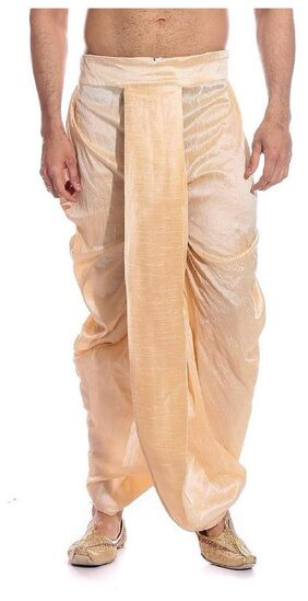 Royal Kurta Dupion Solid Regular Dhoti Dhoti - Beige