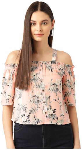 Rue Collection Women Floral Regular top - Peach
