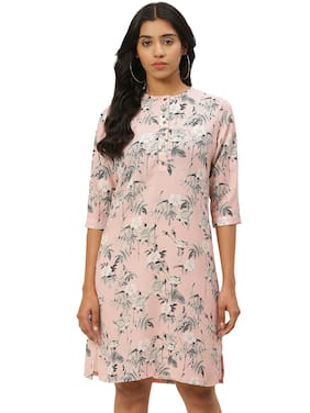 Rue Collection Pink Floral Sheath dress