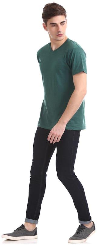 Ruf & Tuf Men Mid rise Slim fit Jeans - Black