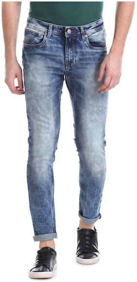 Ruf & Tuf Men Mid rise Slim fit Jeans - Blue