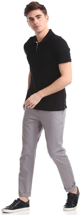 Ruf & Tuf Men Slim Fit ( Fang ) Casual Trouser - Grey