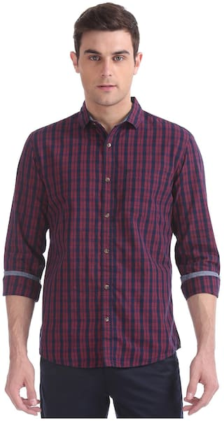 RUGGERS Men Multi Checked Regular Fit Casual Shirt