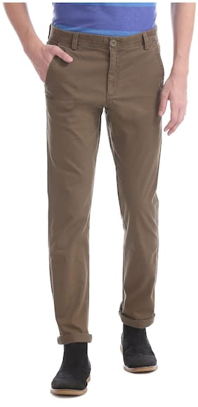 Men Slim Fit Regular Trousers