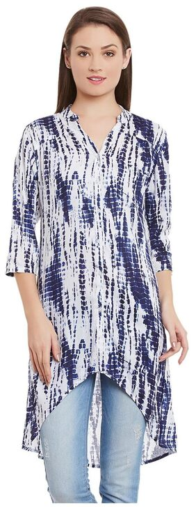 Ruhaan's Blue Color Printed Tunic