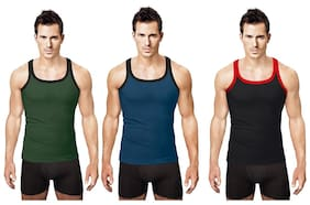 Rupa Hunk Assorted Sleeveless Vests-pack Of 3 (#1061)
