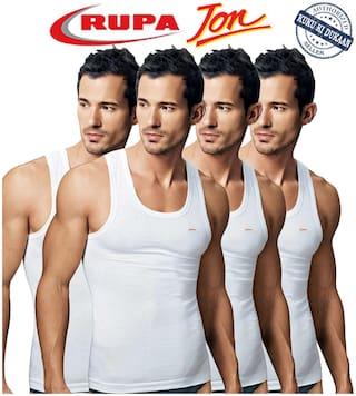 Rupa 4 Sleeveless Round Neck Men Vest - White