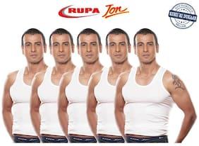 Rupa Jon RN Pack Of 5 White Cotton Vests