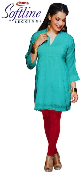 Rupa Softline Cotton Churidar - Red
