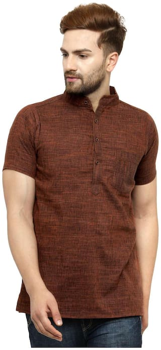 Rust Short Kurta