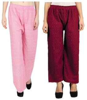Women Cotton Palazzo ,Pack Of Pack of 2