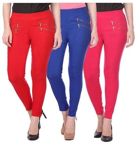Women Straight Fit Jegging Pack Of 3