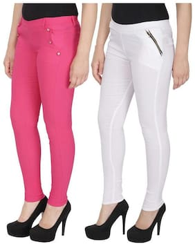 Women Straight Fit Jegging Pack Of 2