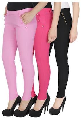 Women Straight Fit Jegging ,Pack Of Pack Of 3