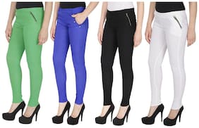 Women Straight Fit Jegging Pack Of 4