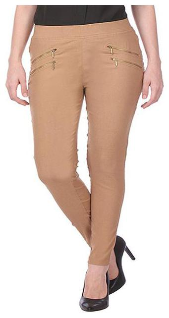 RZLECORT Women Brown Straight fit Jegging