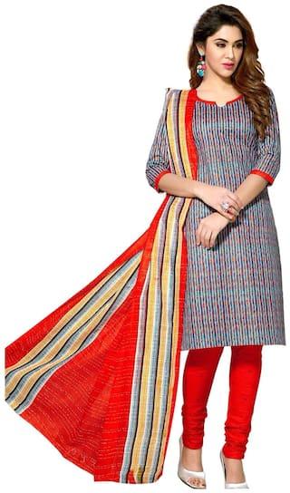 Sahari Designs Multicoloured Cotton Unstitched Dress Material