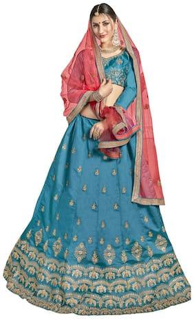 Silk Festive Lehnga Choli ,Pack Of Lehenga Choli & Dupatta