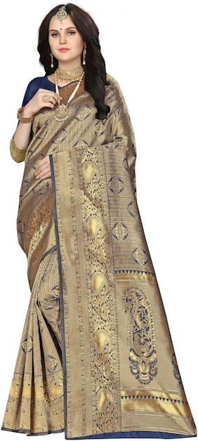 SAINOOR Silk Banarasi Gold  SareeWith Blouse