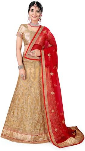 Net Festive;Wedding Lehnga Choli ,Pack Of Lehenga Choli & Dupatta