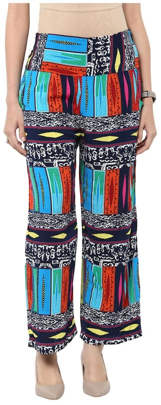 Trousers Printed color Sang Sakhi Multi qZCx1wa1I