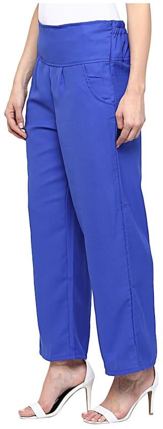 Sang Blue Sakhi Trousers Sakhi Sang Solid Solid nqawTHtx