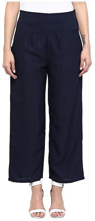 Sakhi Sang Solid Navy Blue Trousers