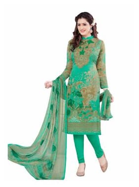 97b4c9b547 Salwar House Cotton Solid Dress Material - Green