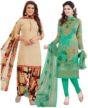 Women Crepe Dress Material Pack of 3