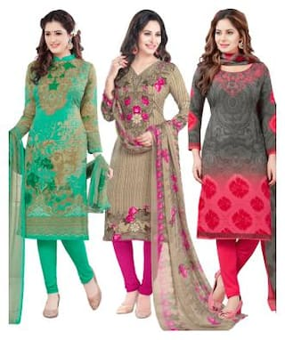 Salwar Studio Women's Pack of 3 Synthetic Unstitched Dress Material Combo-MONSOON-1770-1773-2169