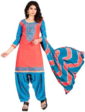 Women Cotton Dress Material Pack of 1