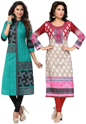 Women Cotton Dress Material Pack of 2