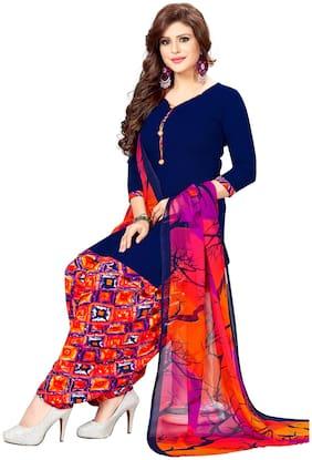 Women Crepe Dress Material Pack of 1