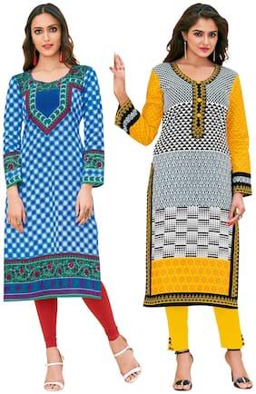 Women Cotton Dress Material Pack of 2