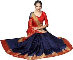 Silk Kanchipuram Silk Saree ,Pack Of 1