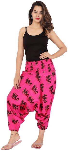 SANGAKURTI Women Harem Pants - Pink