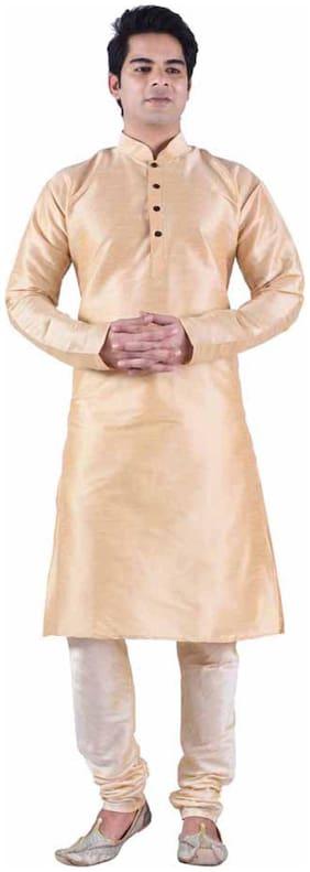 Sanwara Beige Silk Blend Kurta Pyjama